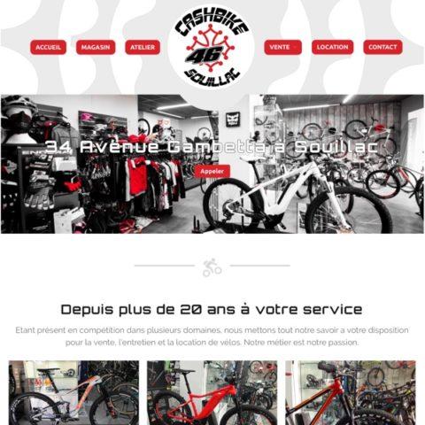 cashbike.fr, un site réalisé par Pixeligo, Agence Web et Photo à Souillac