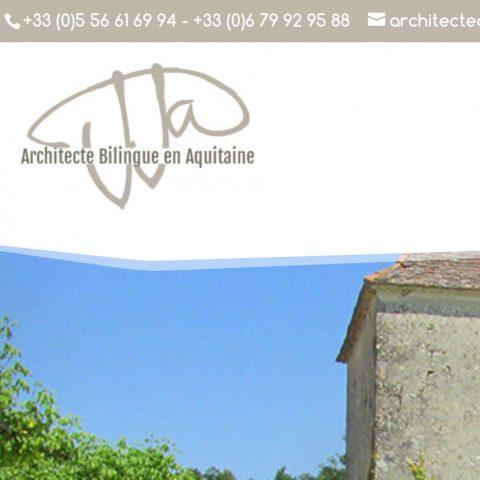 Refonte de site Internet Architecte à Salignac (24)