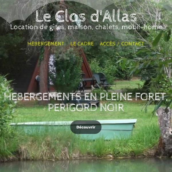 Création Site Internet Sarlat Le Clos d'Allas
