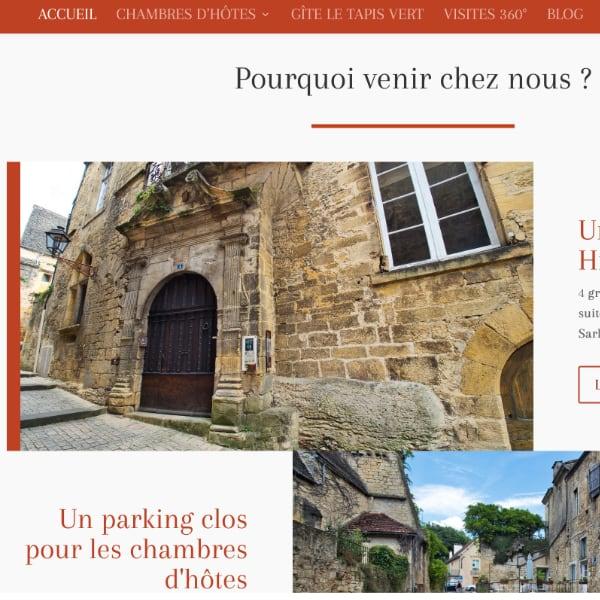 création site internet maison notaire royal Sarlat