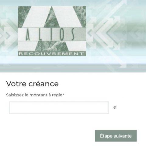 Alios Recouvrement : paiement en ligne