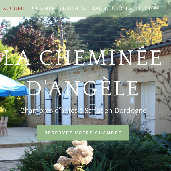Création site internet La Cheminee d'Angèle, chambre et table d'hôtes à Sarlat