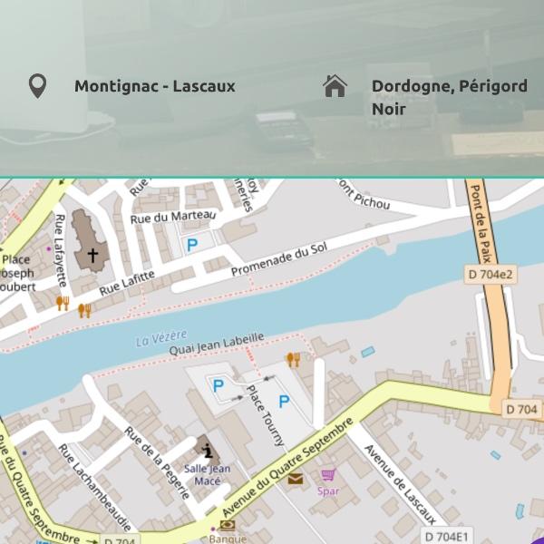 Conception site internet hôtel Montignac