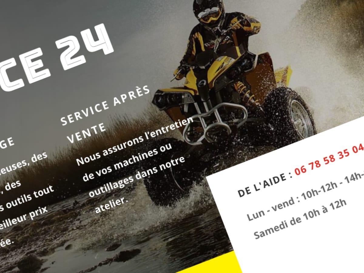 Boutique en ligne de quad en Dordogne