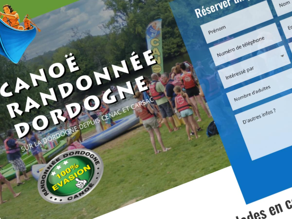 Site Internet Canoë Rando Dordogne