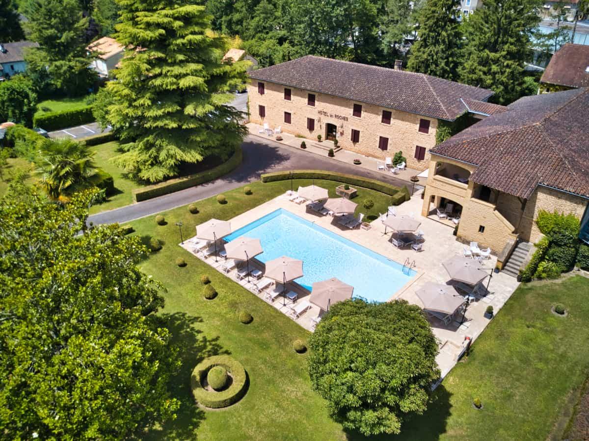Photo par drone Hôtel des Roches Les Eyzies